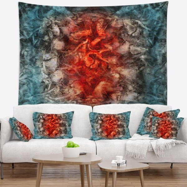 Designart 'Abstract Floral Texture Design' Abstract Wall Tapestry