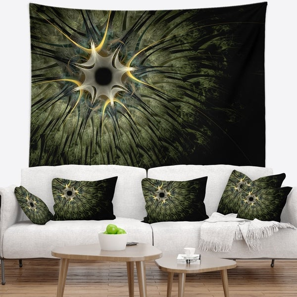 Designart 'Large Symmetrical Fractal Flower Design' Floral Wall Tapestry