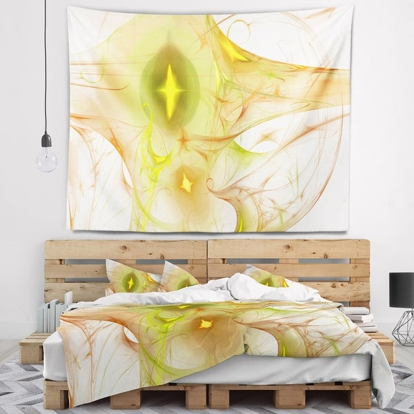 Designart 'Yellow Bright Candle' Abstract Wall Tapestry