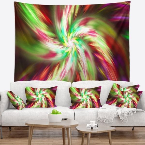 Designart 'Exotic Multi Color Flower Petal Dance' Floral Wall Tapestry