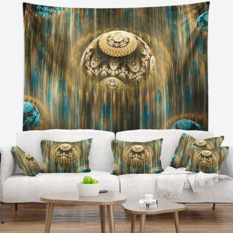 Designart 'Brown World of Infinite Universe' Abstract Wall Tapestry