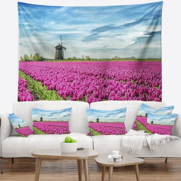 Designart 'Traditional Holland Countryside' Landscape Wall Tapestry