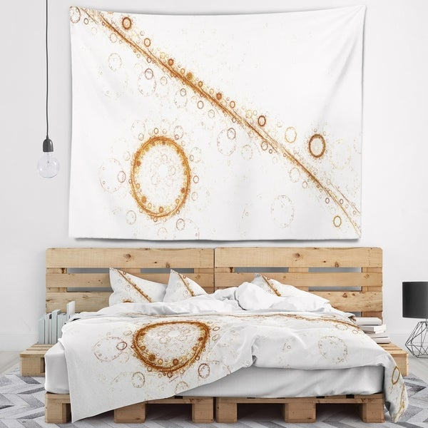 Designart 'Live Cell Protein under Microscope' Abstract Wall Tapestry