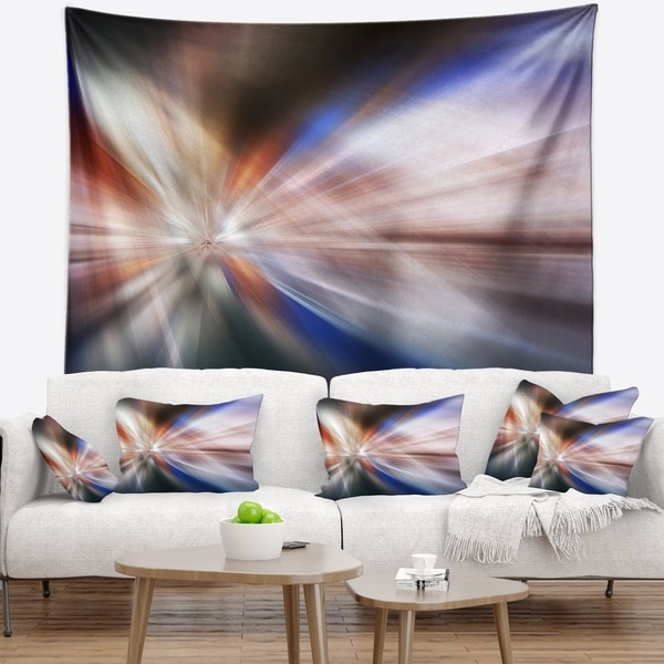 Designart 'White Focus Color' Abstract Wall Tapestry