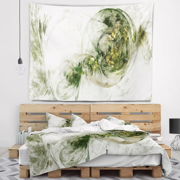 Designart 'Colored Smoke Green' Abstract Wall Tapestry