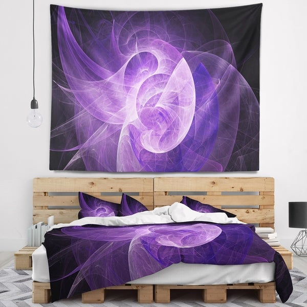 Designart 'Purple Mystic Psychedelic Design' Abstract Wall Tapestry