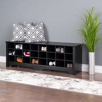"Prepac 60"" Shoe Cubby Bench, Multiple Finishes"