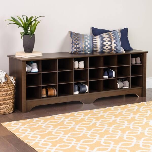 Swell Shop Prepac 24 Pair Shoe Storage Cubby Bench Multiple Evergreenethics Interior Chair Design Evergreenethicsorg