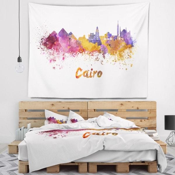Designart 'Cairo Skyline' Cityscape Wall Tapestry