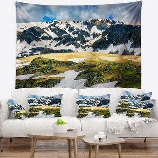 Designart 'Rila lakes and Mountains in Bulgaria' Landscape Wall Tapestry