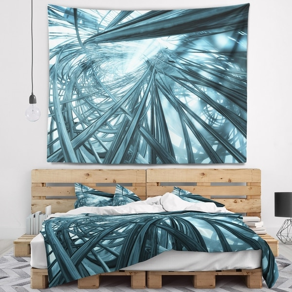 Designart 'Fractal 3D Stripes Everywhere' Contemporary Wall Tapestry
