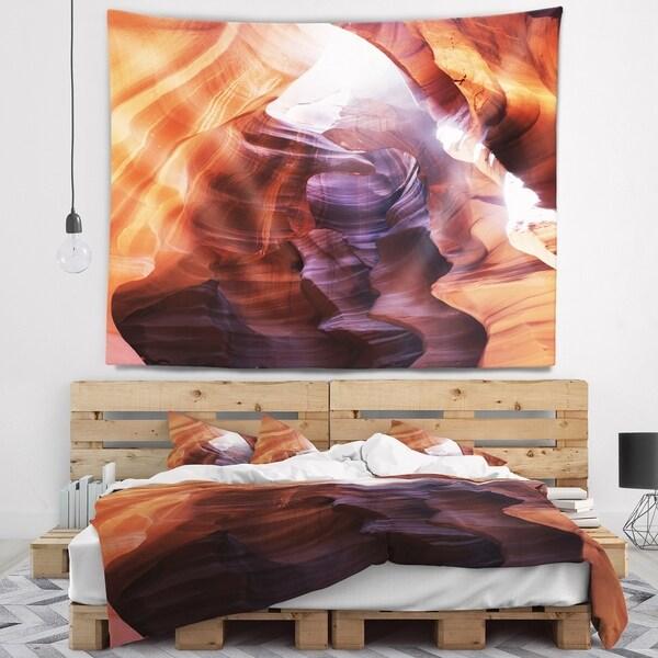 Designart 'Canyon Antelope with Purple Sunlight' Modern Landscape Wall Tapestry