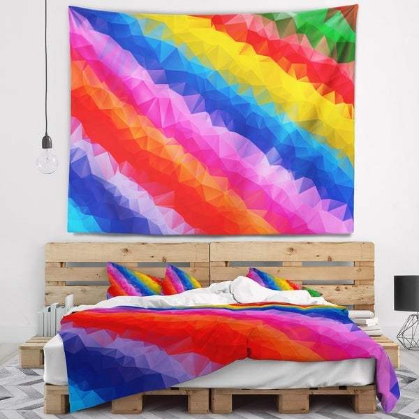 Designart 'Multi Color Polygonal Pencils' Abstract Wall Tapestry