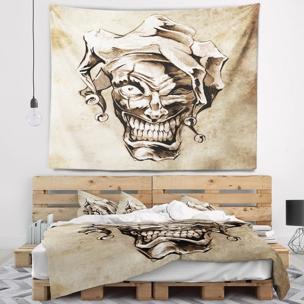 Designart 'Fantasy Clown Joker' Abstract Portrait Wall Tapestry