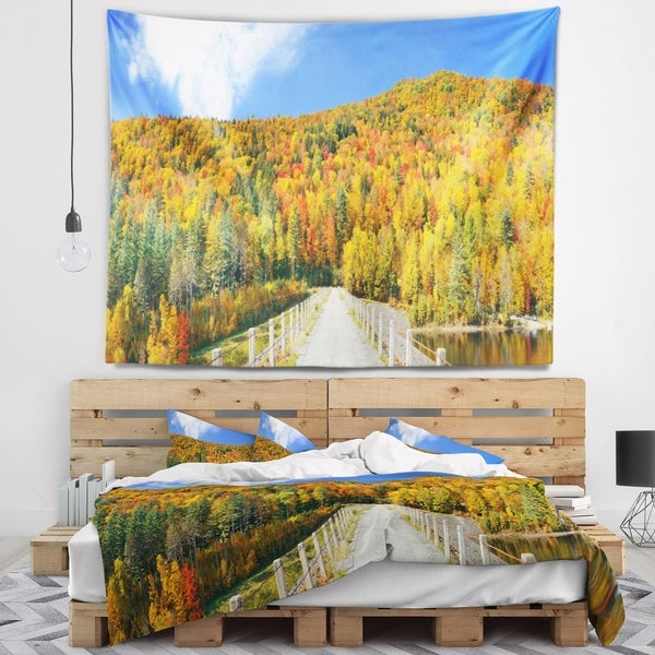 Designart 'Stowe Countryside View Panorama' Landscape Wall Tapestry