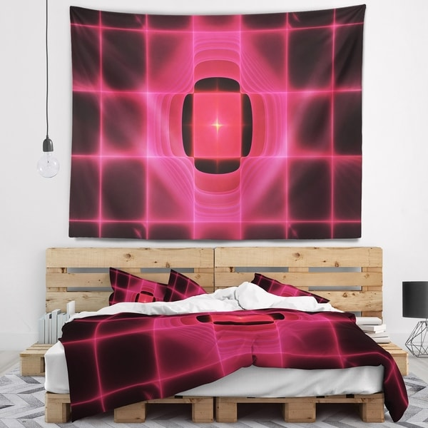 Designart 'Pink Thermal Infrared Visor' Abstract Wall Tapestry