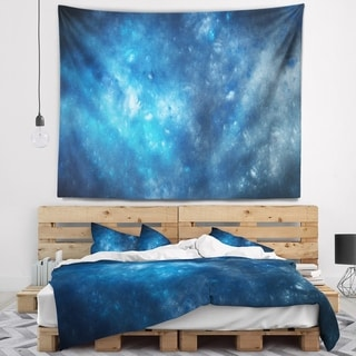 Designart 'Clear Blue Starry Fractal Sky' Abstract Wall Tapestry