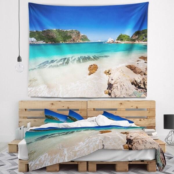 Designart 'Beautiful Knysna Beach South Africa' Seashore Wall Tapestry