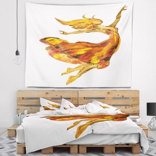 Designart 'Fire Ballerina' Portrait Wall Tapestry