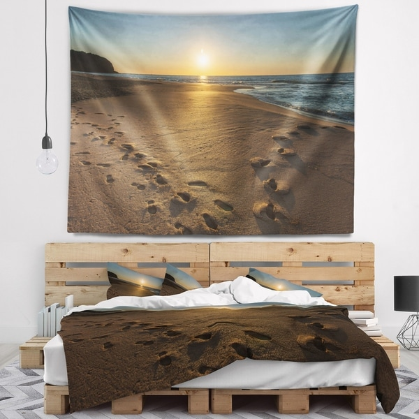 Designart 'Sydney Seashore at Sunrise' Seascape Wall Tapestry