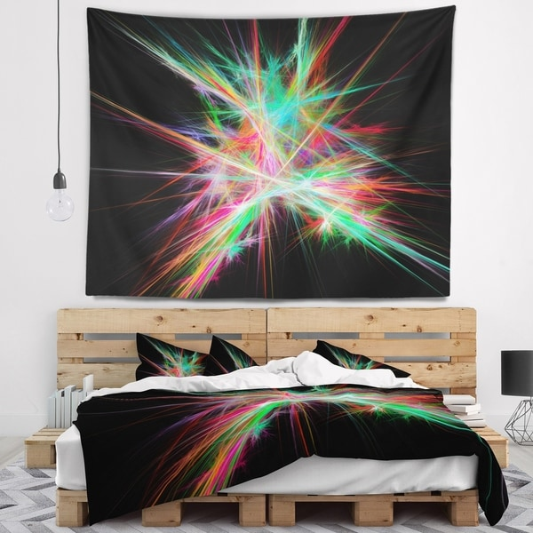 Designart 'Green Red Spectrum of Light' Abstract Wall Tapestry