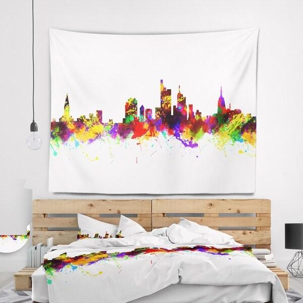 Designart 'Frankfurt Germany Skyline' Cityscape Wall Tapestry