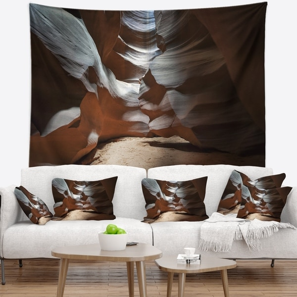 Designart 'Antelope Canyon Dark Inside' Landscape Photo Wall Tapestry