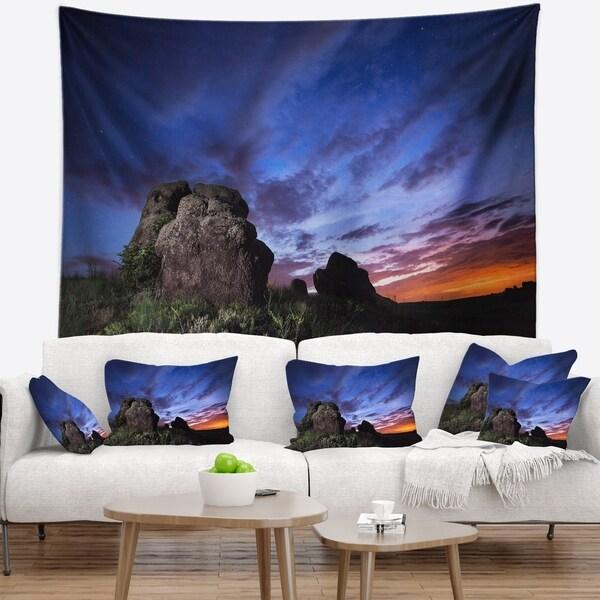 Designart 'Summer Night Blue Sky' Landscape Photography Wall Tapestry