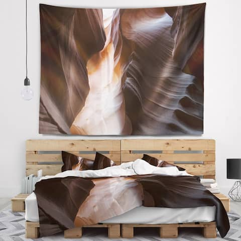 Designart 'Brown Antelope Canyon' Landscape Photography Wall Tapestry