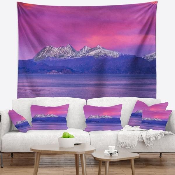 Designart 'Ushuaia Sunrise Argentina' Beach and Shore Wall Tapestry