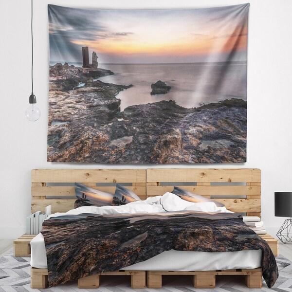 Designart 'Gate to Africa Seashore in Mahdia' Oversized Beach Wall Tapestry