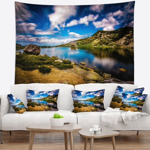 Designart 'Long View of Seven Rila Lakes' Landscape Wall Tapestry