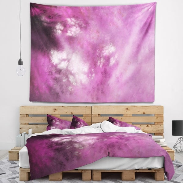Designart 'Blur Pink Sky with Stars' Abstract Wall Tapestry