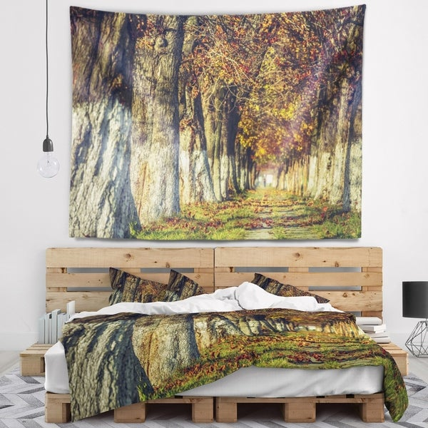Designart 'Colorful and Serene Autumn Forest' Modern Forest Wall Tapestry