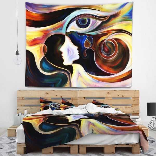 Designart 'Colorful Intuition' Abstract Wall Tapestry