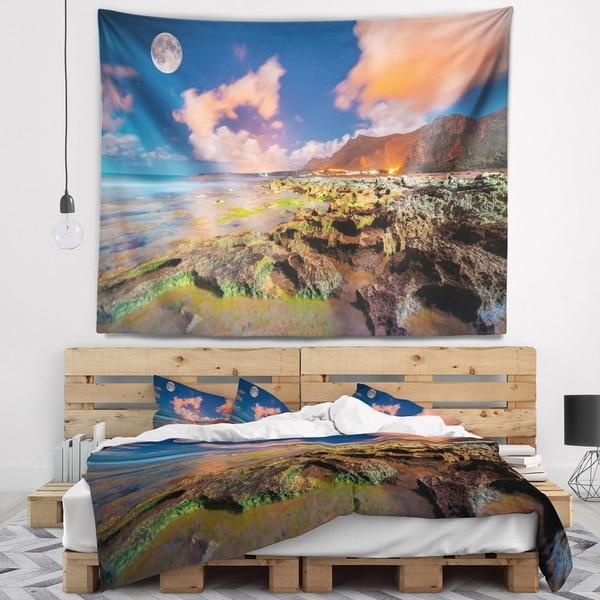 Designart 'Monte Cofano Nature Reserve' Landscape Photography Wall Tapestry