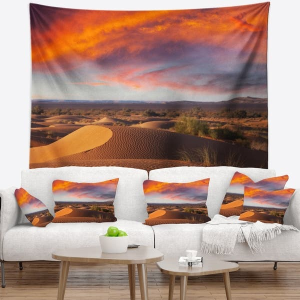 Designart Sahara Dunes Under Colorful Sky Landscape Wall Wall Tapestry Overstock 20927658