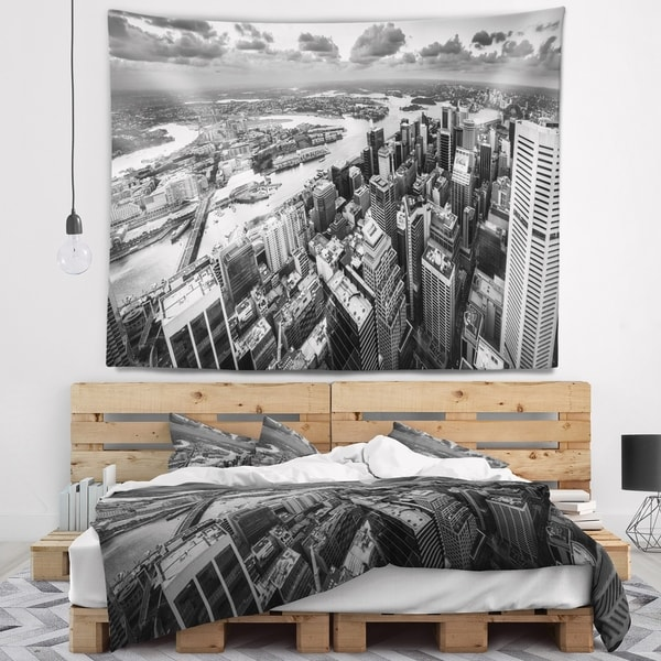 Designart 'Sydney City Skyscrapers Panorama' Cityscape Wall Tapestry