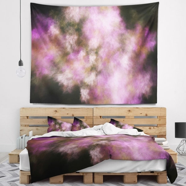 Designart 'Perfect Pink Starry Sky' Abstract Wall Tapestry
