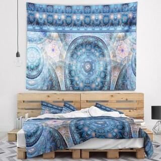 Designart 'Light Blue Living Cells Fractal Design' Abstract Wall Tapestry