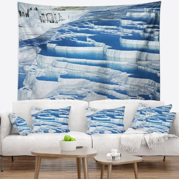 Designart 'Pamukkale Pools in Turkey' Landscape Wall Tapestry