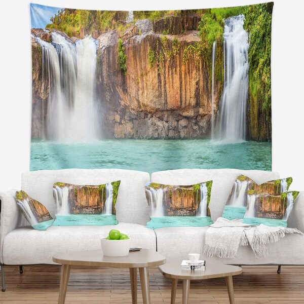 Designart 'Dry Sap Waterfall' Photography Wall Tapestry