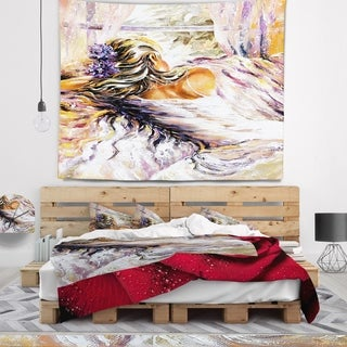 Designart 'The River over the Girl' Abstract Wall Tapestry