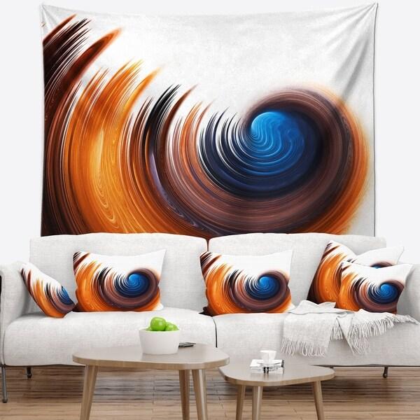 Designart 'Elegant Spiral Design' Abstract Wall Tapestry