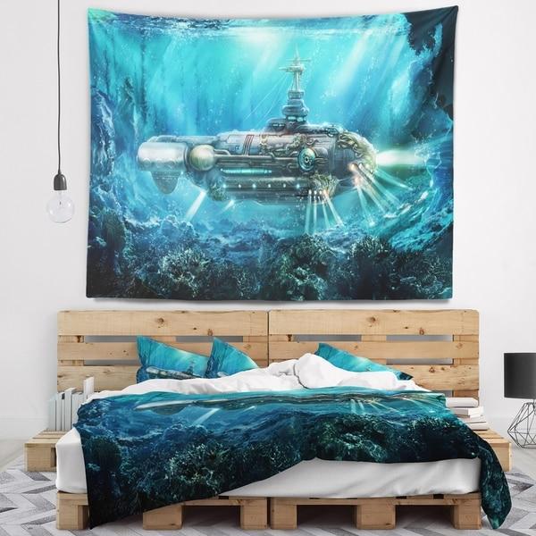 Designart 'Fantastic Submarine' Abstract Wall Tapestry