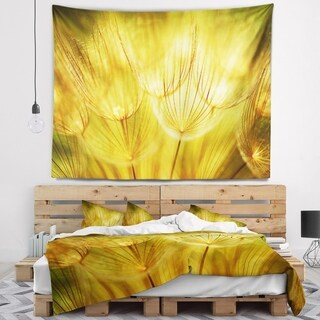 Designart 'Soft Yellow Dandelion Flowers' Floral Wall Tapestry