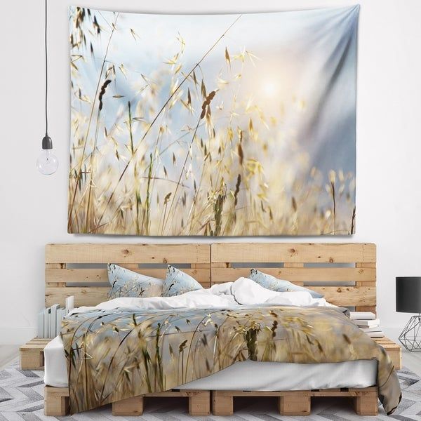 Designart 'Typical Tuscany Sunset Italy' Landscape Wall Tapestry
