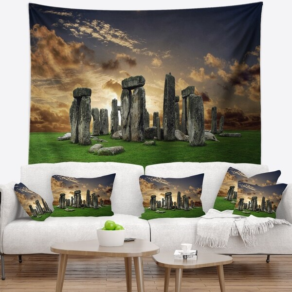 Designart 'Stonehenge' Landscape Photography Wall Tapestry