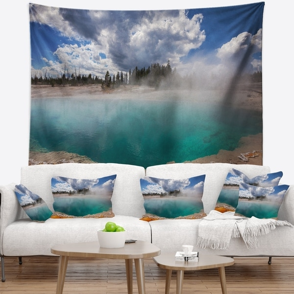 Designart 'West Thumb Geyser Basin in Yellowstone' Landscape Wall Tapestry