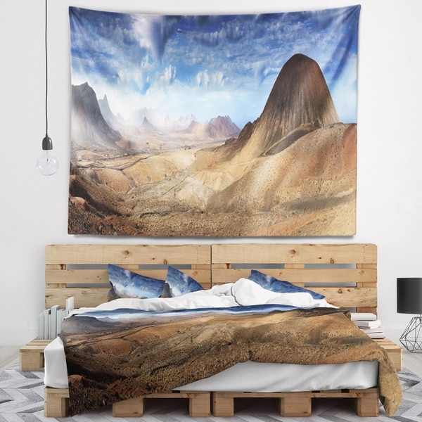 Designart 'Mountain Scenery Panorama' Landscape Photography Wall Tapestry